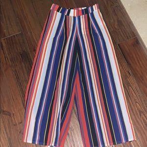 New Boohoo striped pants size 6